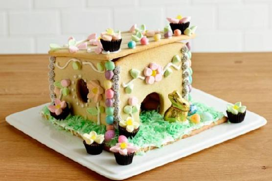 Sugar-Cookie Easter Bunny House
