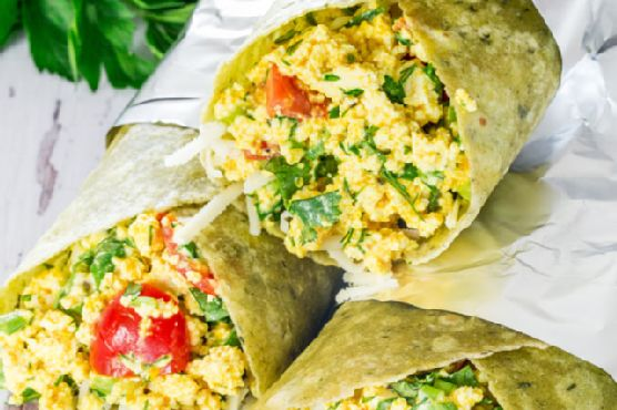 Vegan Tofu Breakfast Burritos