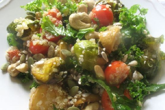 Quinoa Salad with Vegetables and Cashews