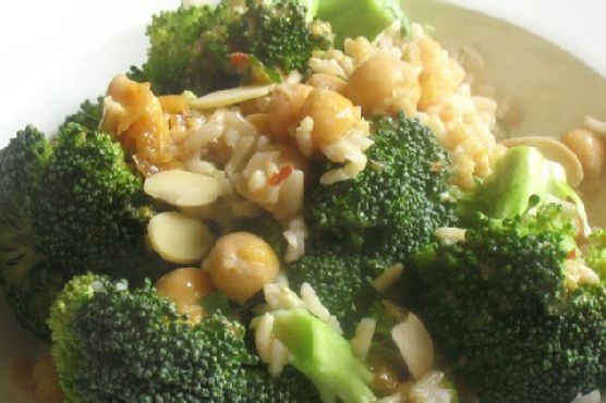 Broccoli and Chickpea Rice Salad