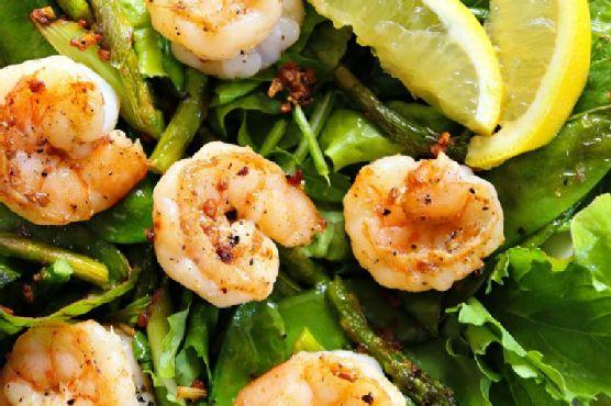 Garlic Lemon Pepper Shrimp Salad (Clean Eating)