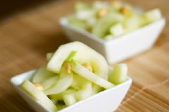 Cucumber Salad With Rice Vinegar Dressing