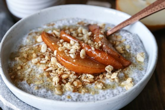 Caramelized Pear Chia Seed Pudding