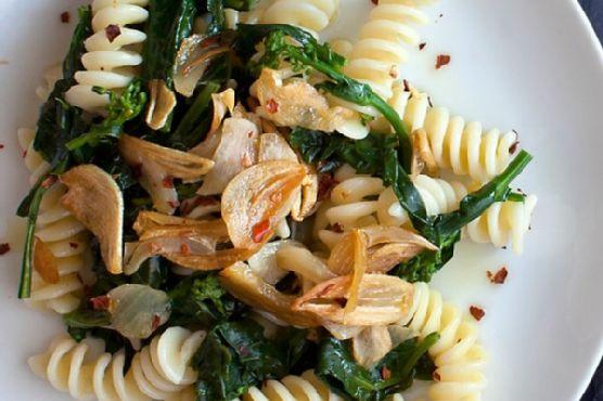 Broccoli Rabe Pasta with Golden Garlic