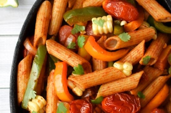 Fully-Loaded Veggie Fajita Pasta