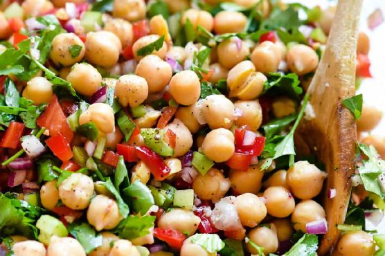 Outrageous Herbacious Mediterranean Chickpea Salad