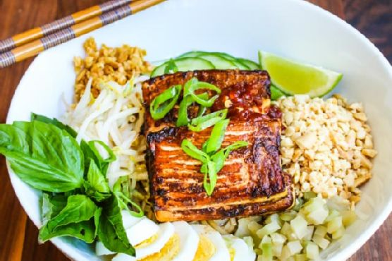 Cambodian Sweet Soy Noodle Bowl