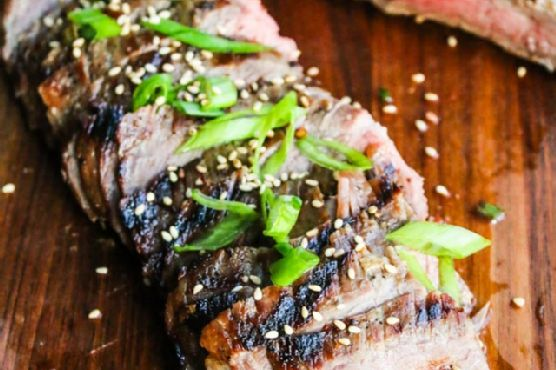 Asian Beer Marinated Flank Steak