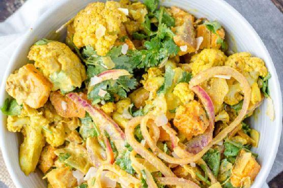 Curried Roasted Cauliflower Salad