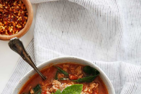 lasagna soup one pot or slow cooker gluten free