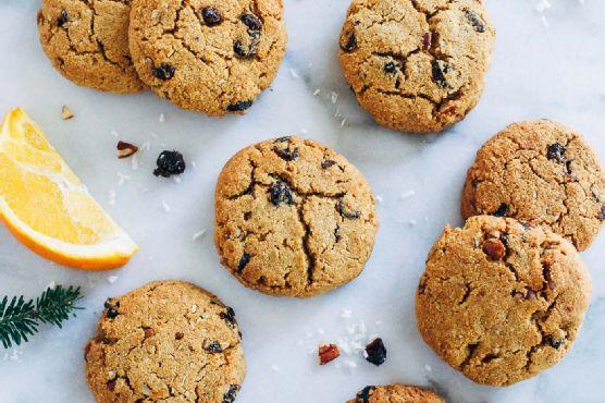 Grain-free Cranberry Orange Breakfast Cookies