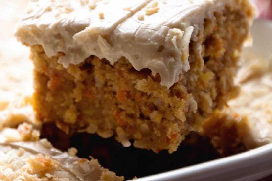Gooey Cinnamon Carrot Poke Cake + VIDEO