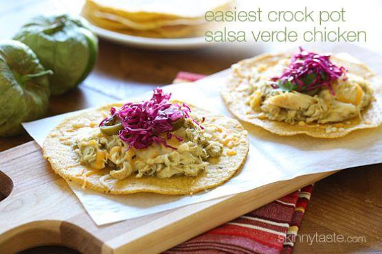 Easiest Crock Pot Salsa Verde Chicken