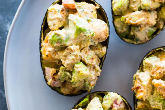 Creamy Shrimp Stuffed Avocado