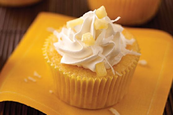 Coconut-Pineapple Cupcake