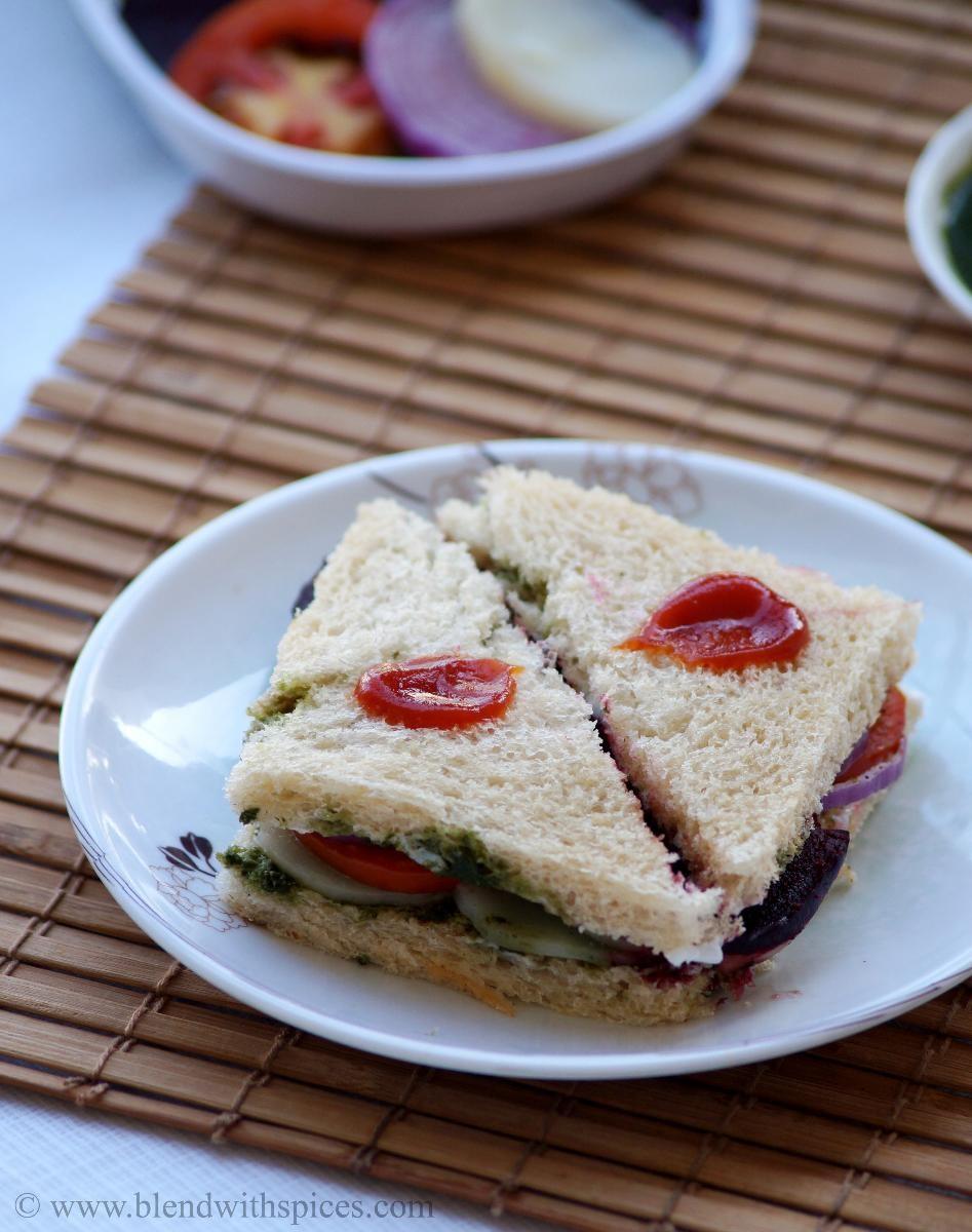 Bombay Veg Sandwich - How to make Vegetable Sandwich - Indian Street ...