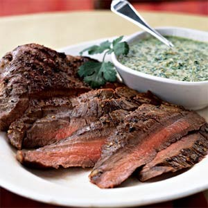 Flank Steak with Cilantro Pesto
