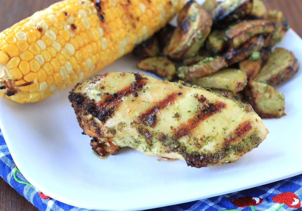 cilantro pesto grilled chicken