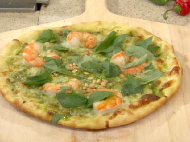 Grilled Shrimp and Cilantro Pesto Pizza
