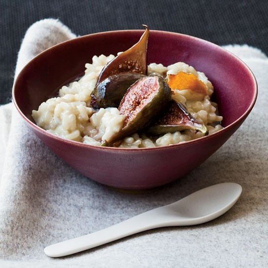 Soy Milk?arborio Rice Pudding With Poached Figs