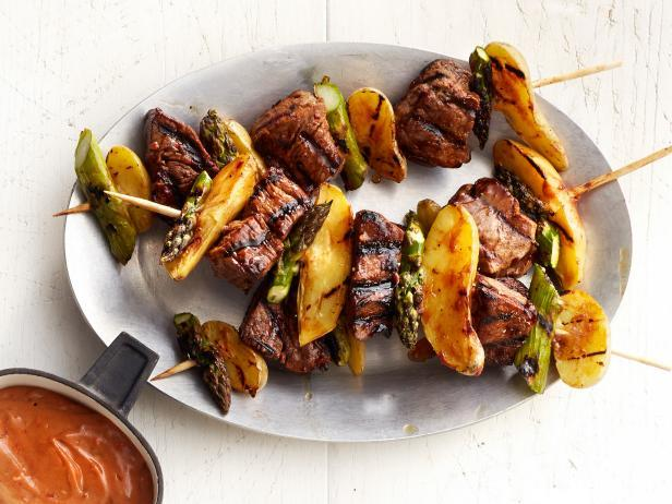 Steak and Potato Kebabs